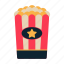 fast food, movie, popcorn, snack, theatre icon