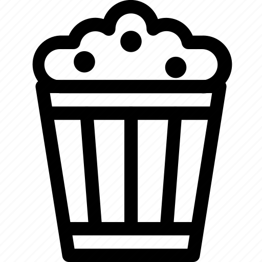 corn, food, movie, pop, snack icon