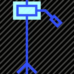 cinema, entertainment, movie, theater, tripod icon