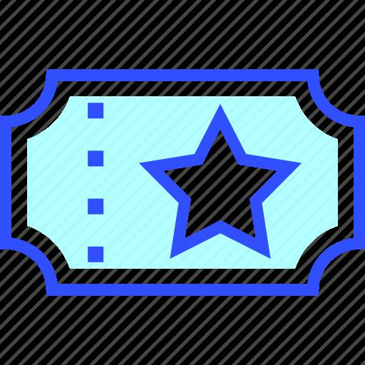 cinema, entertainment, movie, theater, ticket icon