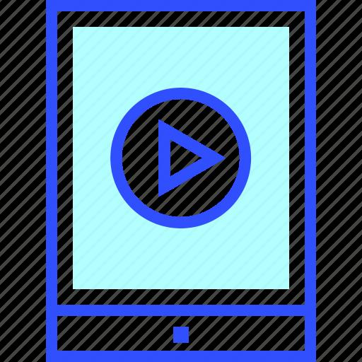 cinema, entertainment, ipad, movie, on, theater, video icon