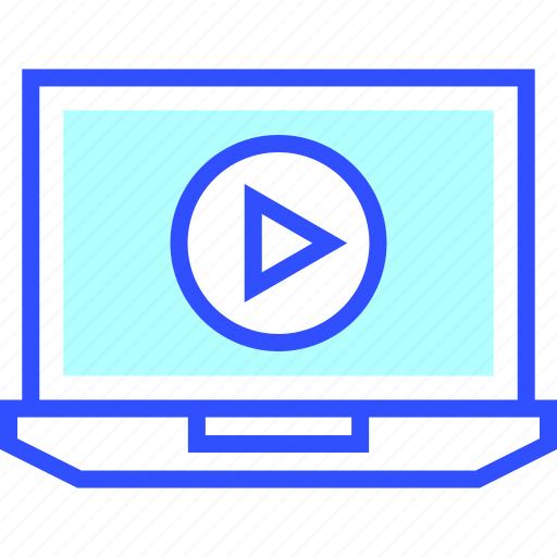 cinema, entertainment, laptop, movie, player, theater, video icon