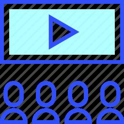 cinema, entertainment, viewer, visitor icon