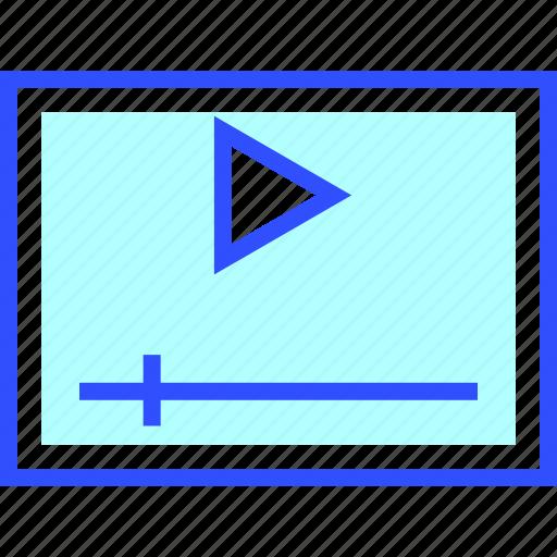 cinema, entertainment, movie, player, theater, video icon