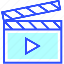 cinema, entertainment, movie, play, theater, video icon