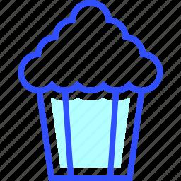 box, cinema, entertainment, movie, popcorn, theater icon
