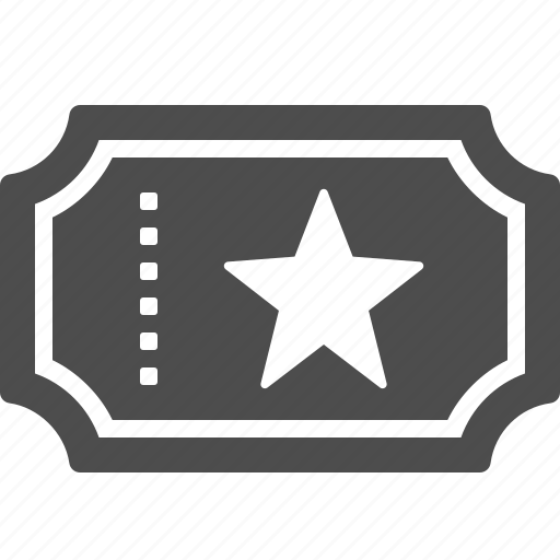 cinema, movie, theatre, ticket icon