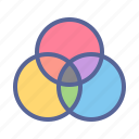 color, colour, gradient, mixer, palette, wheel icon