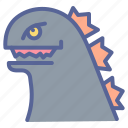 godzilla, horror, king, lizard, monster, movie icon
