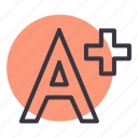 a, cinema, content, educational, movie, plus, value icon
