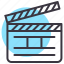 action, cinema, clap, clapboard, film, movie, shoot icon