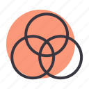 color, gradient, mixer, wheel icon