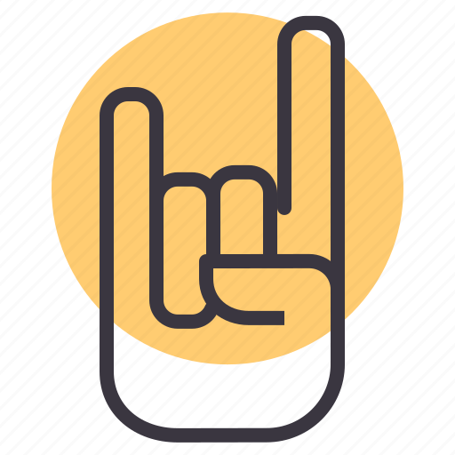 fingers, fold, genre, gesture, hand, rock, roll icon