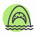 horror, jaws, sea, shark icon
