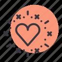 genre, heart, love, movie, romance, valentine icon