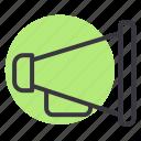 command, director, loud, megaphone, set, speaker, speech icon