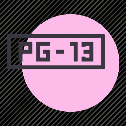 censor, film, guidance, movie, parental, pg icon