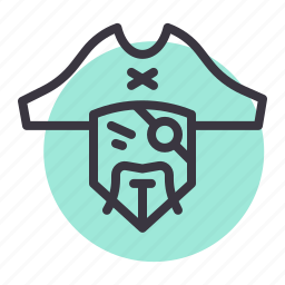 bandit, character, eye, movie, patch, pirate, robber icon