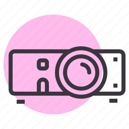 device, media, movie, presentation, project, projector, video icon