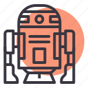 d2, r2, r2d2, robot, science, space, starwars icon