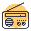 appliance, communication, device, listen, radio icon