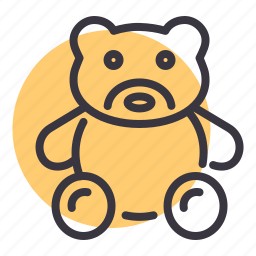 bear, cuddle, kids, play, ted, teddy, toy icon