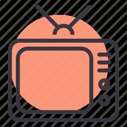 antenna, media, set, television, tv icon