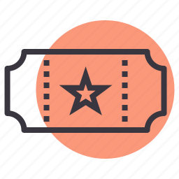 cinema, entry, movie, theatre, ticket icon