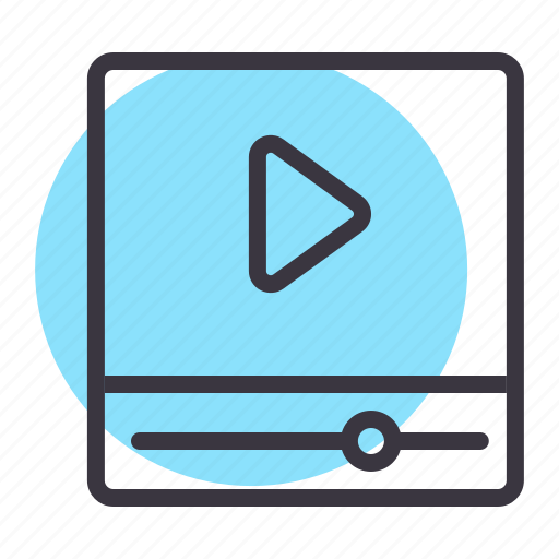 cinema, movie, multimedia, play, player, video icon
