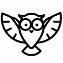 cinema, film, hollywood, owl icon