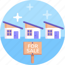 buying home, house for sale icon
