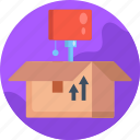 moving, lamp shade, open box, moving home