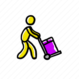 hand drawn, moving, service icon