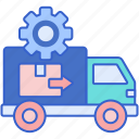 custom, moving, experience icon