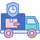 delivery, time, guaranteed icon