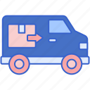 moving, van, transport