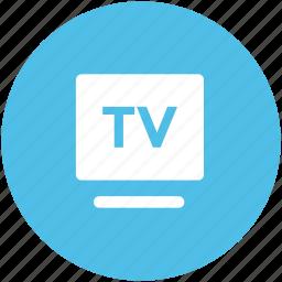 flat panel display, lcd, multimedia, tv, tv screen icon