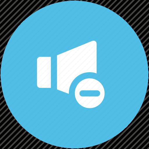 decrease volume, loudspeaker, sound, sound sign, speaker, voice icon