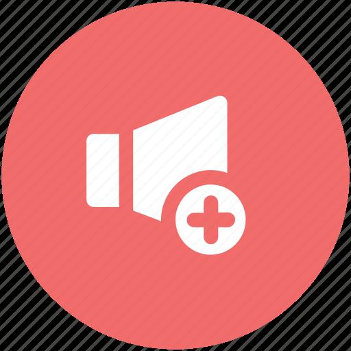 increase volume, loudspeaker, sound, sound sign, speaker, voice icon