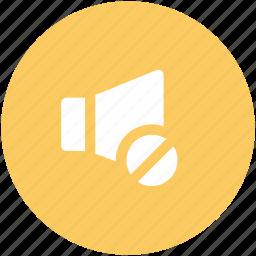 loudspeaker, speaker, voice, volume, volume mute icon