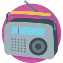media, radio, radio set, transmission, tuner icon