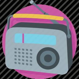 media, radio, radio set, transmission, tuner icon