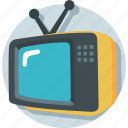 electronics, television, transmission, tv, tv set icon