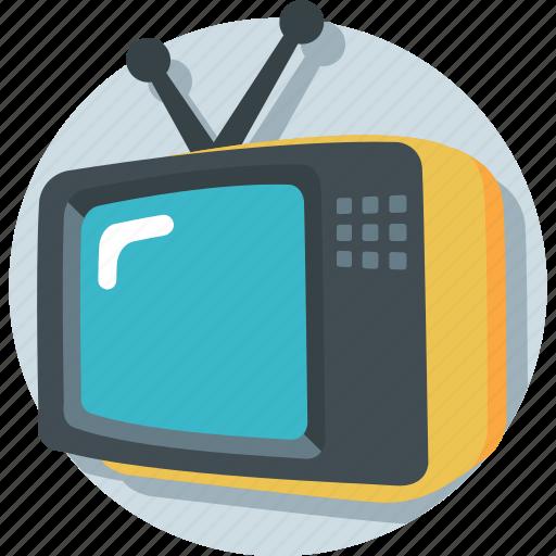electronics, television, transmission, tv, tv set icon
