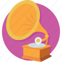 audio, gramophone, instrument, music, sound icon