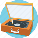 multimedia, music, record player, turntable, vinyl icon