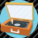 turntable, multimedia, music, vinyl, record player icon