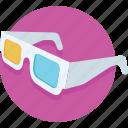 stereo glasses, stereoscopic, cinema, 3d glasses, glasses icon