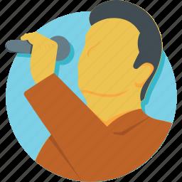 concert, mic, performance, singer, singing icon