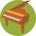 grand piano, instruments, music, piano, pianoforte icon